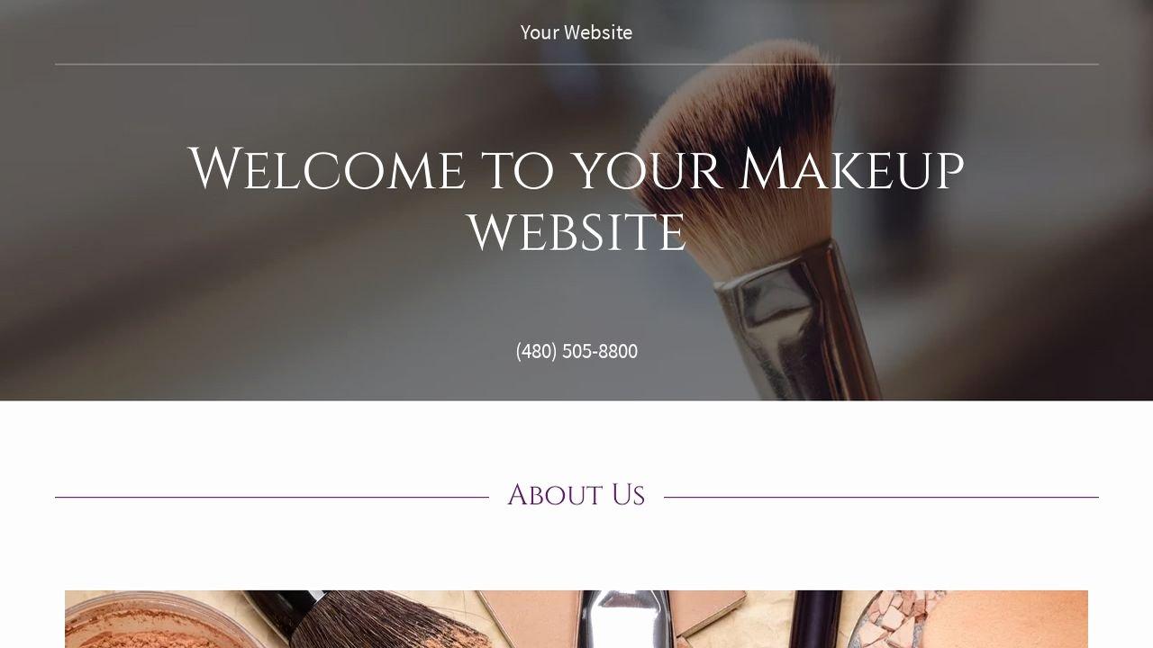 Example 13 Makeup Website Template