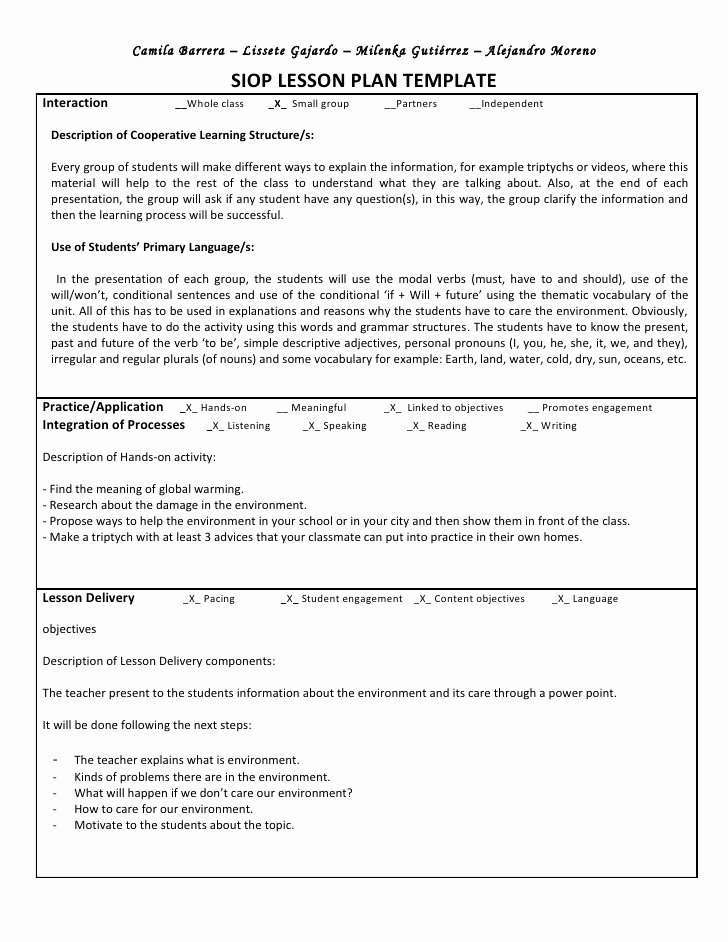 Example 5e Lesson Plan for Math Lesson Plan Examples