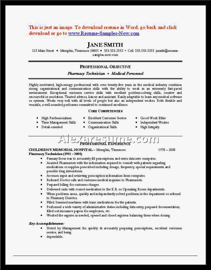Example A Good Pharmacist Resume