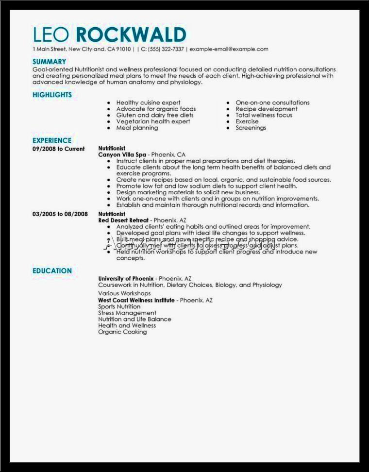Example A Good Resume Resume Template