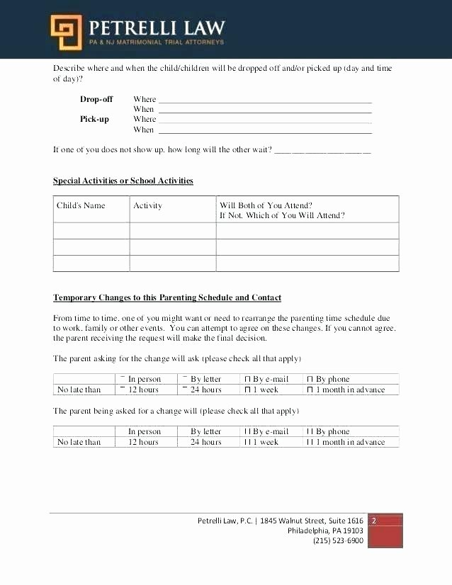Example Child Custody Agreement Example Child Custody