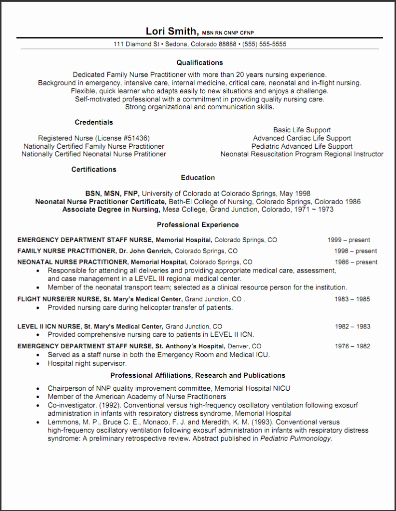 Example Cover Letter for New Graduate Nurse Practitioners
