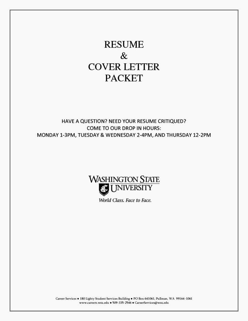 Example Cover Page Resume Resume Template