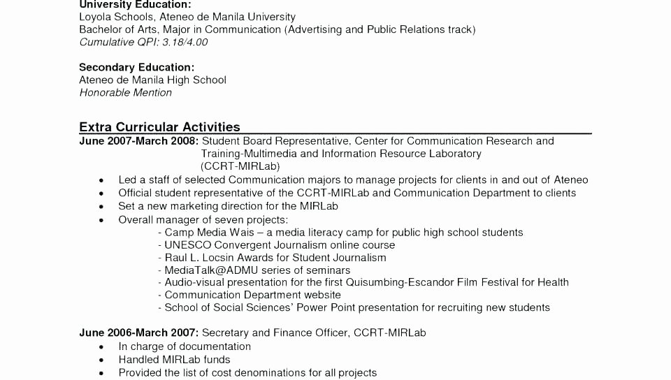 Example Cv for Job Application Doc Courtnewsfo