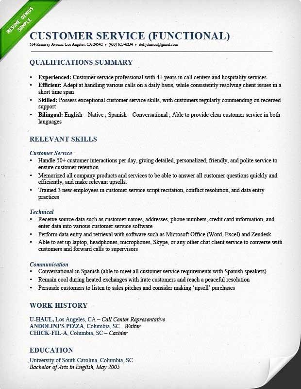 Example Functional Resume Best Resume Gallery