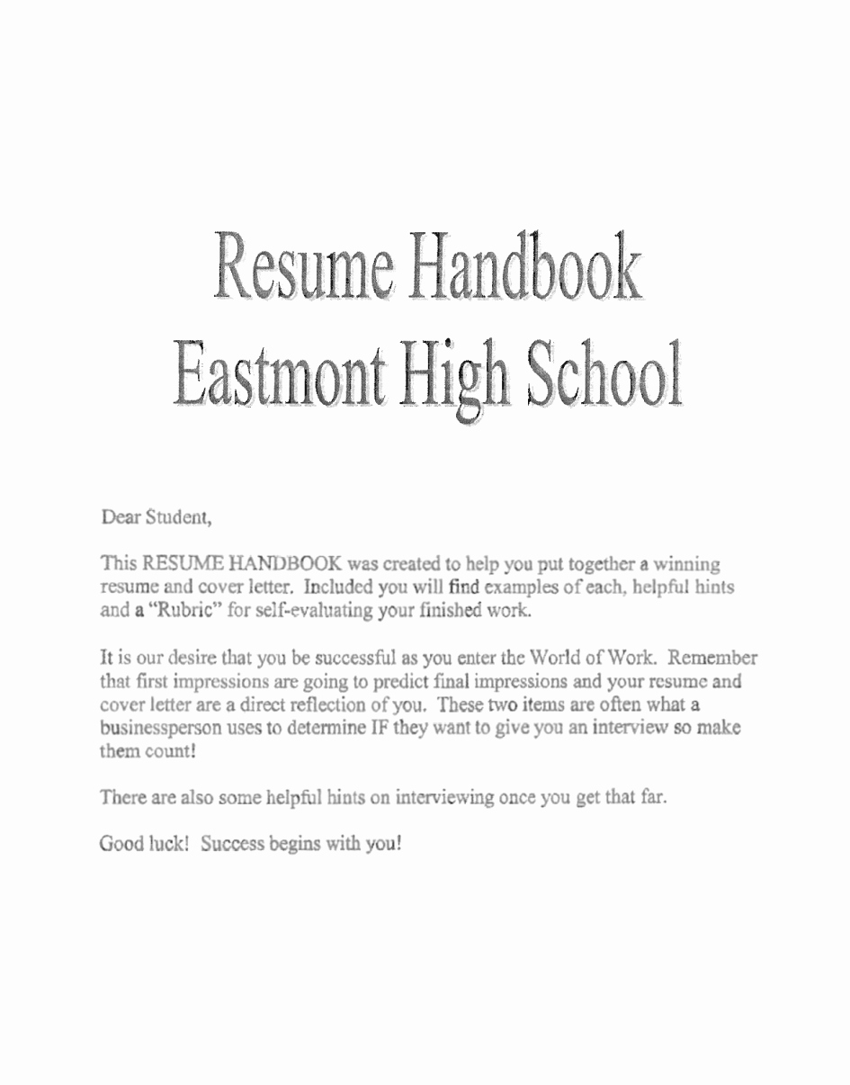Example Letter for Internship High School – Perfect Resume
