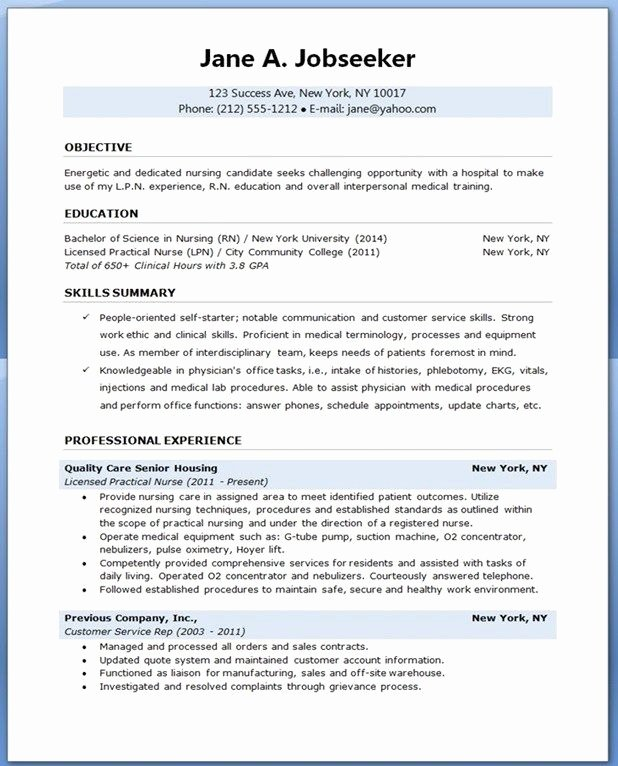 Example Nursing Student Resume Best Resume Collection