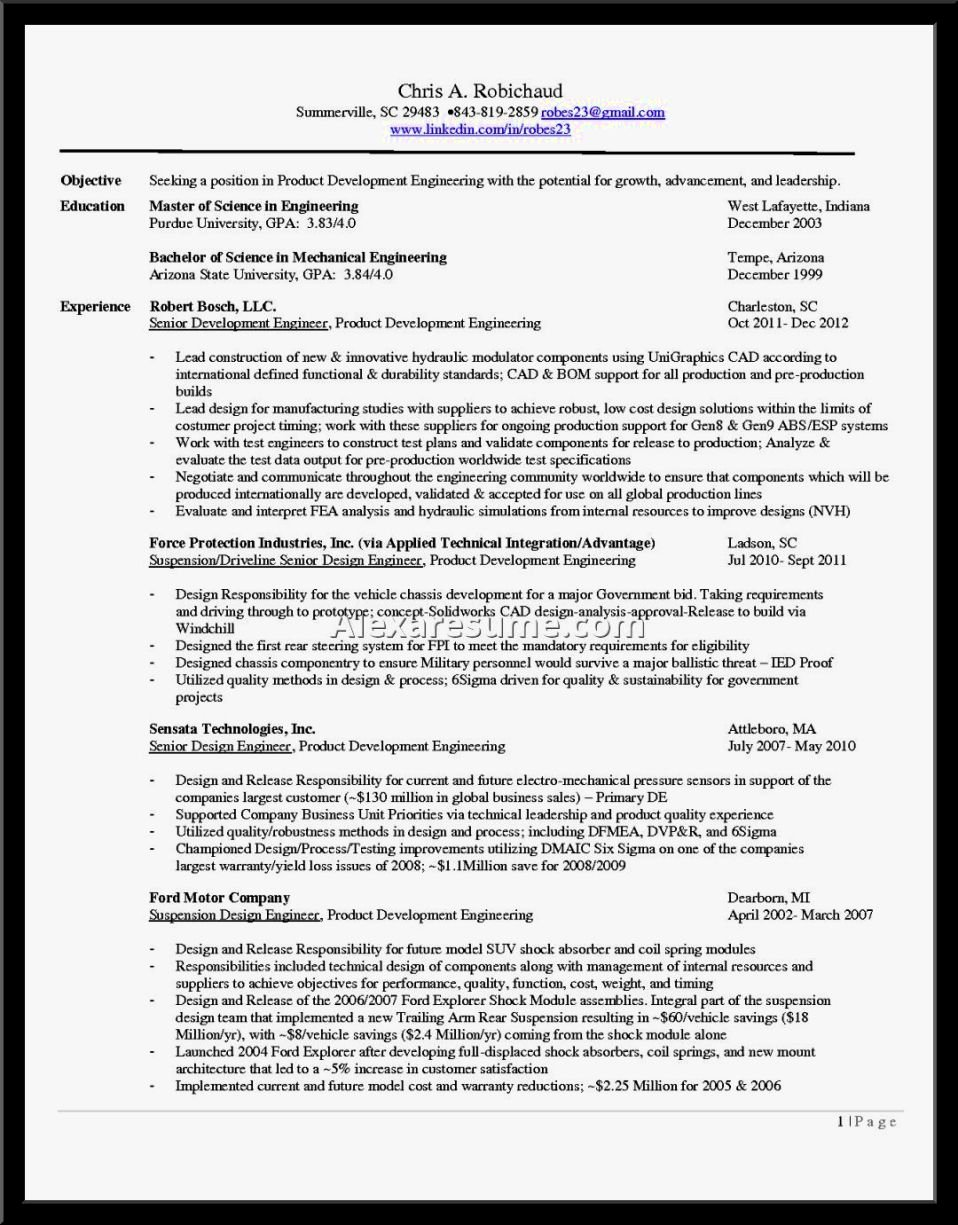 Example Objective In Resume Resume Template