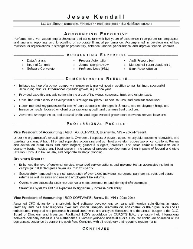 Example Of Accountant Resume – Administrativelawjudgefo