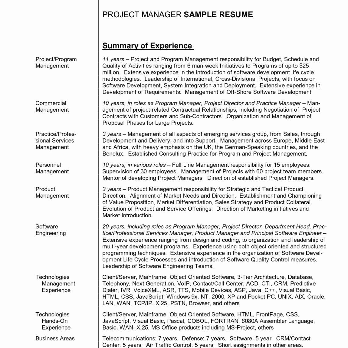 Example Of Resume Summary Statement thevillas