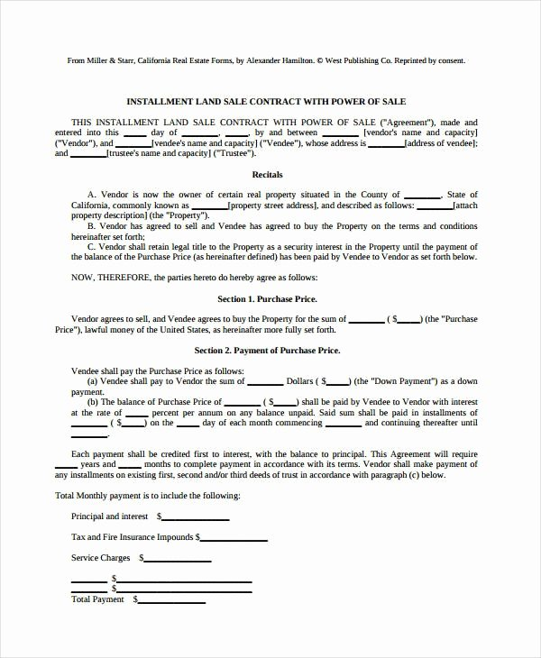 Example Ohio Land Installment Contract form 446