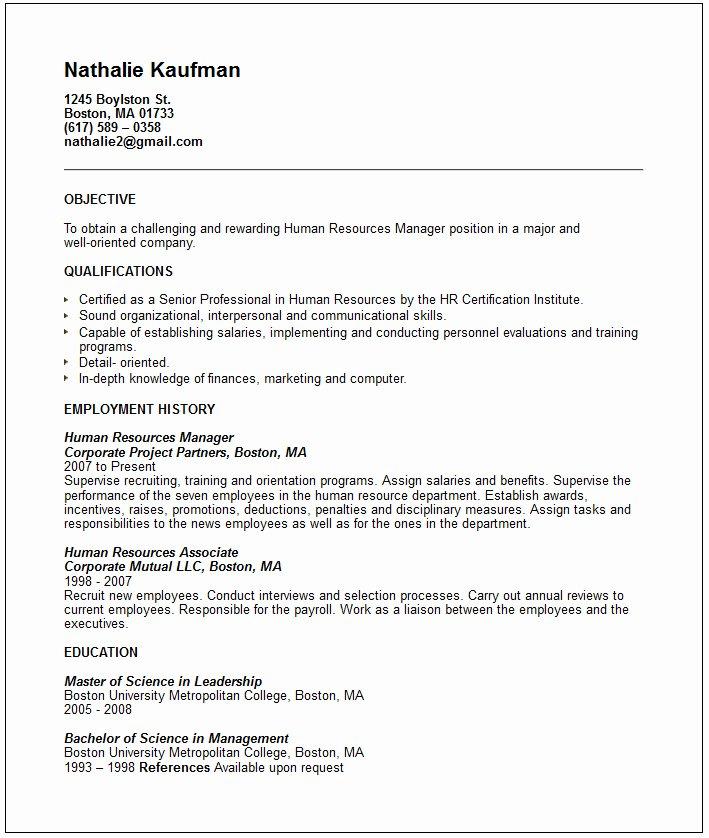 Example Resume November 2015
