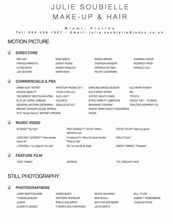 Example Resume Resume Templates Hair Stylist