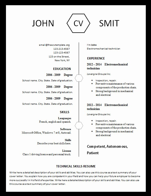 Example Resume Resume Templates You Can Print