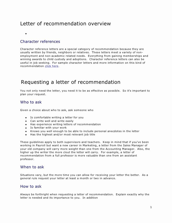 Example Resume Sample Character Letter for Child Custody