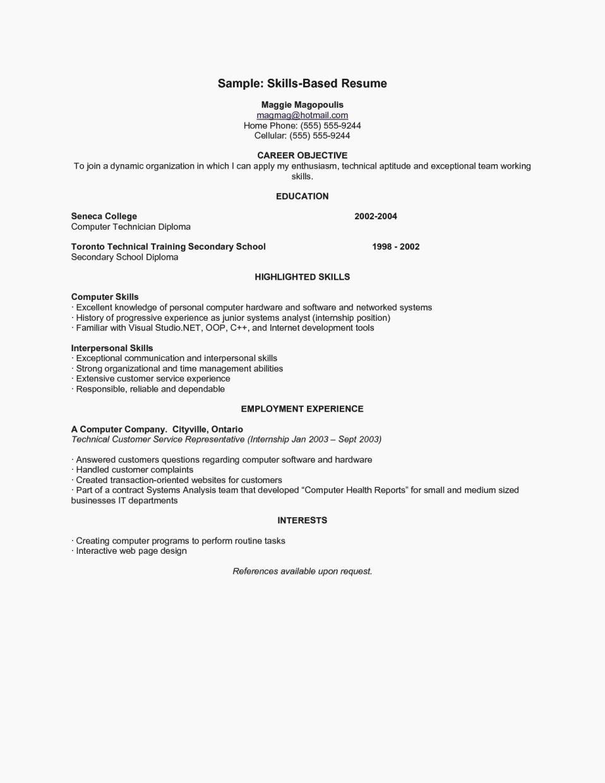 Example Resume Skills Resume Template