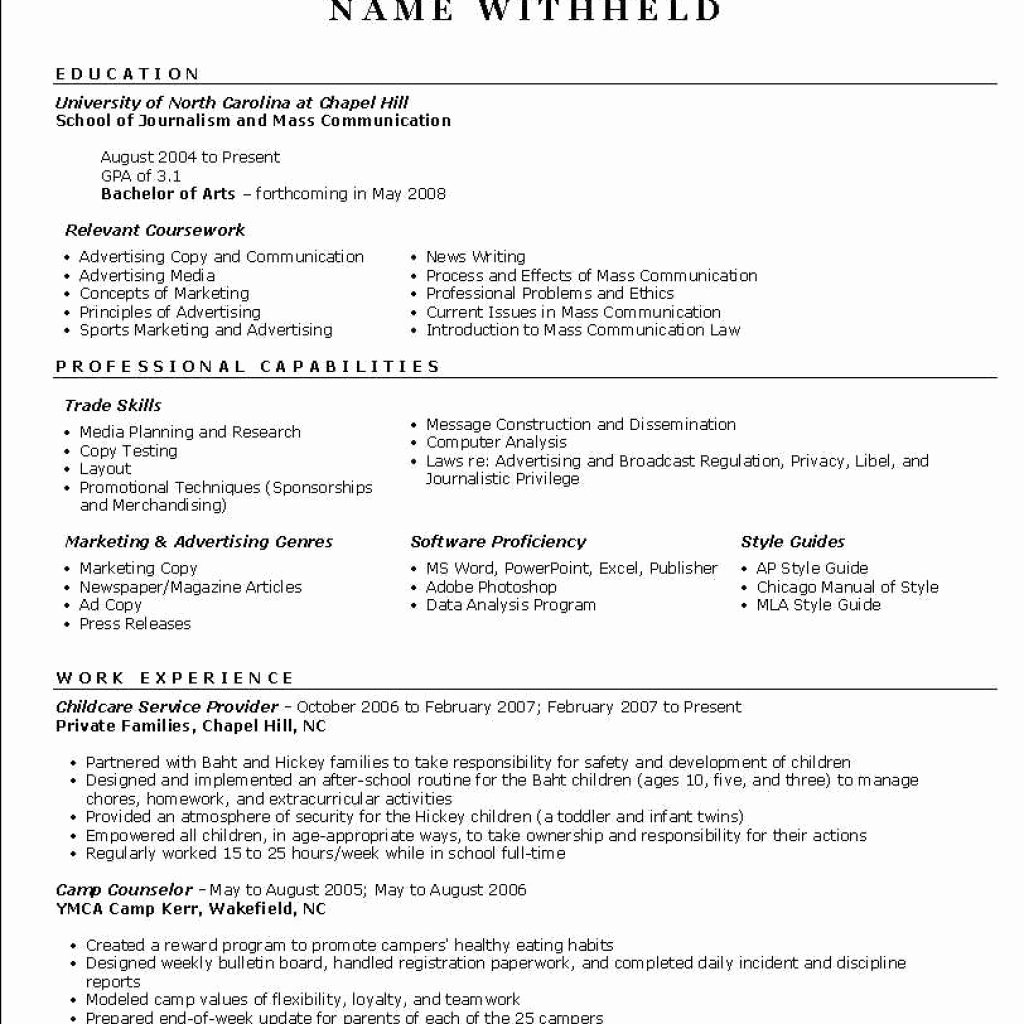 Example Resume Writing Staruptalent