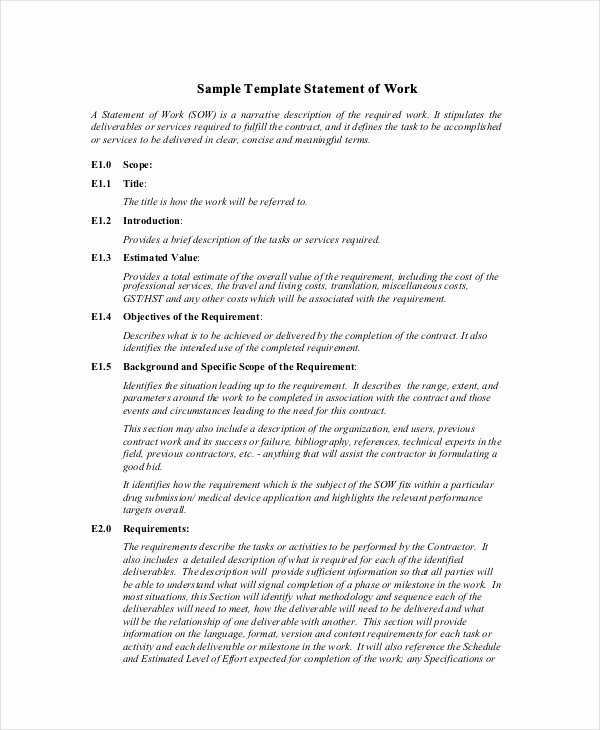 Example Statement Work Electrical Engineering Scope Of