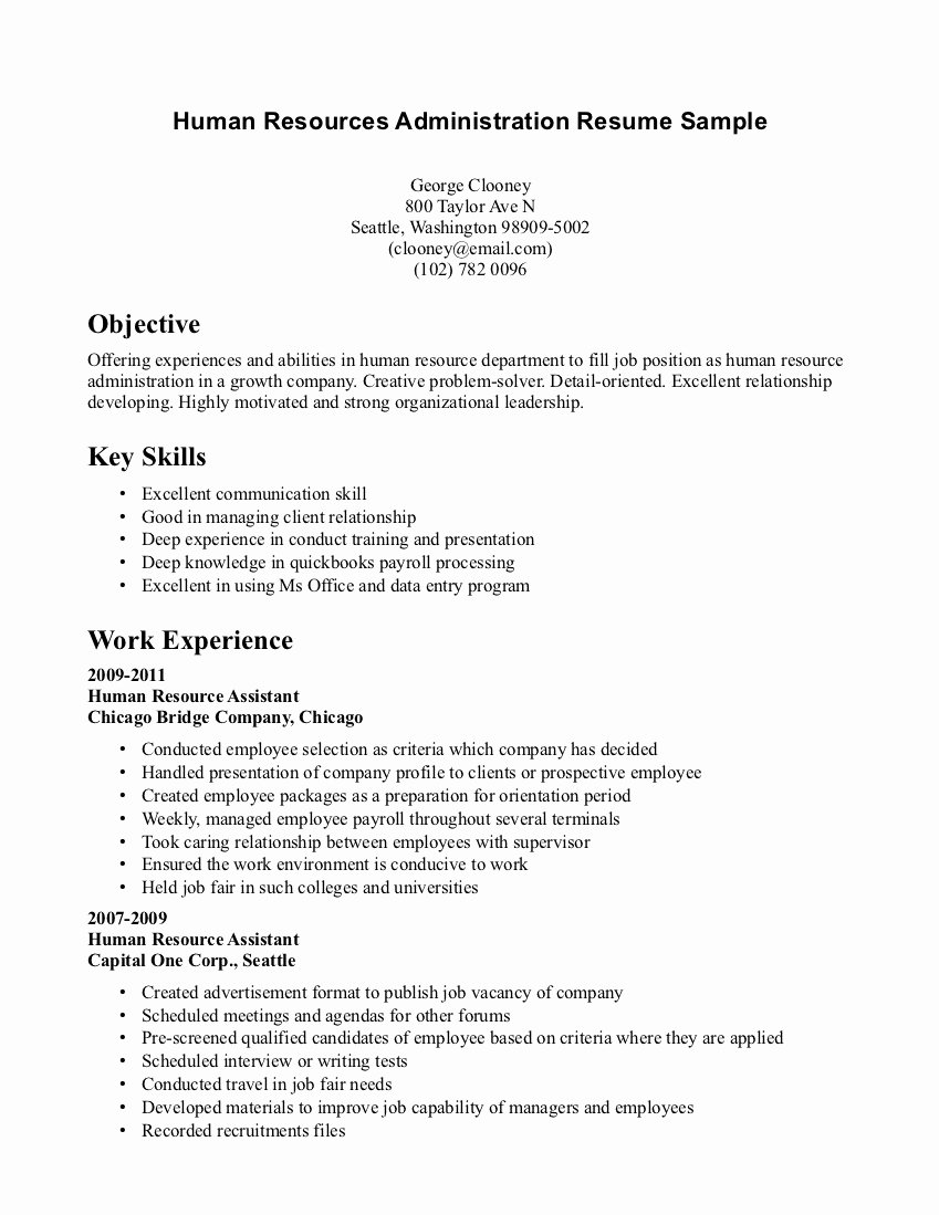 Example Writing Resume without Any Experience – Perfect