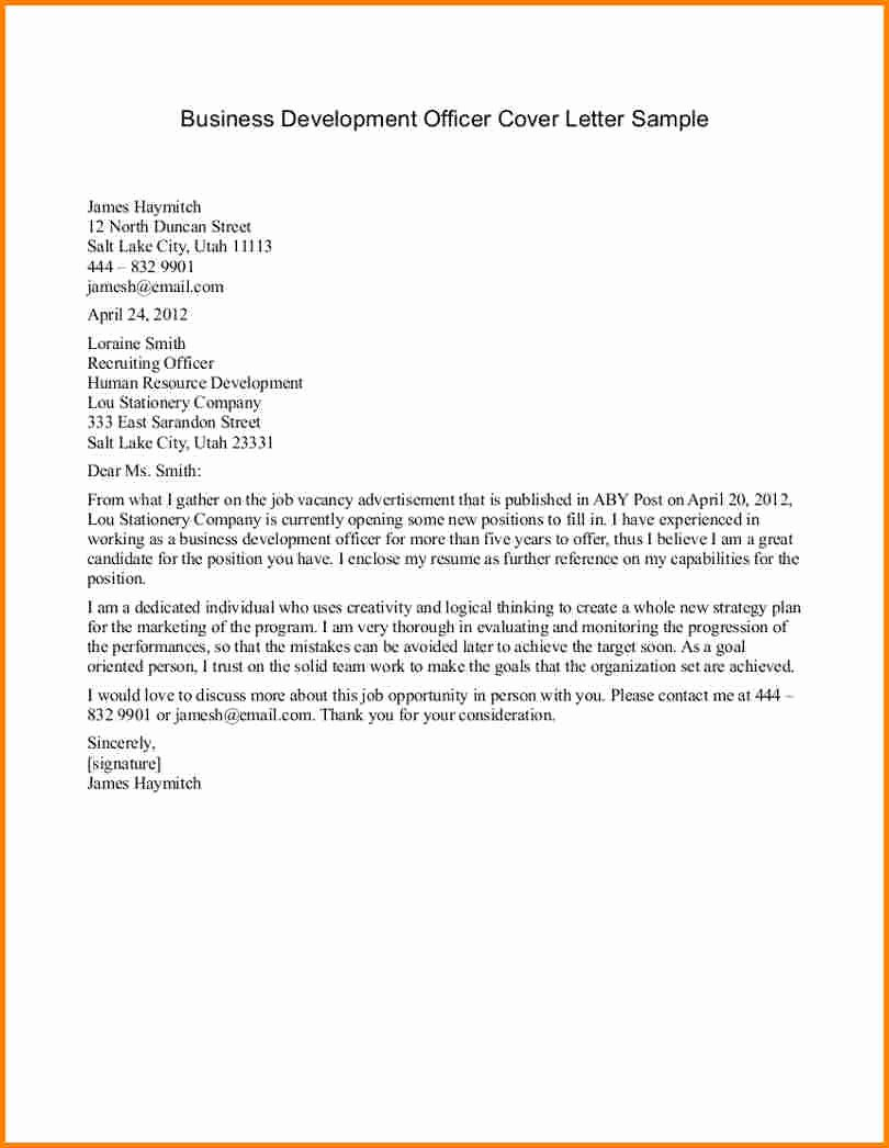 Examples Business Letters