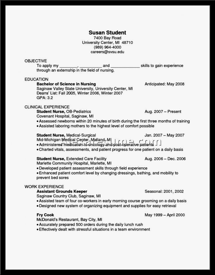 Examples Cook Resumes Resume Template