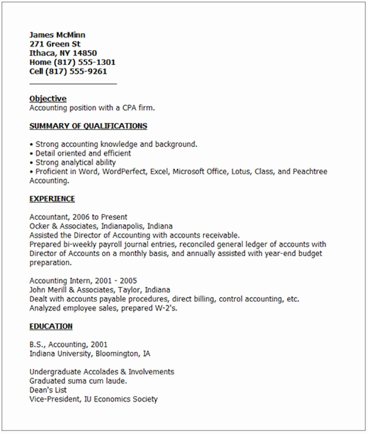 Examples Good Resumes that Get Jobs