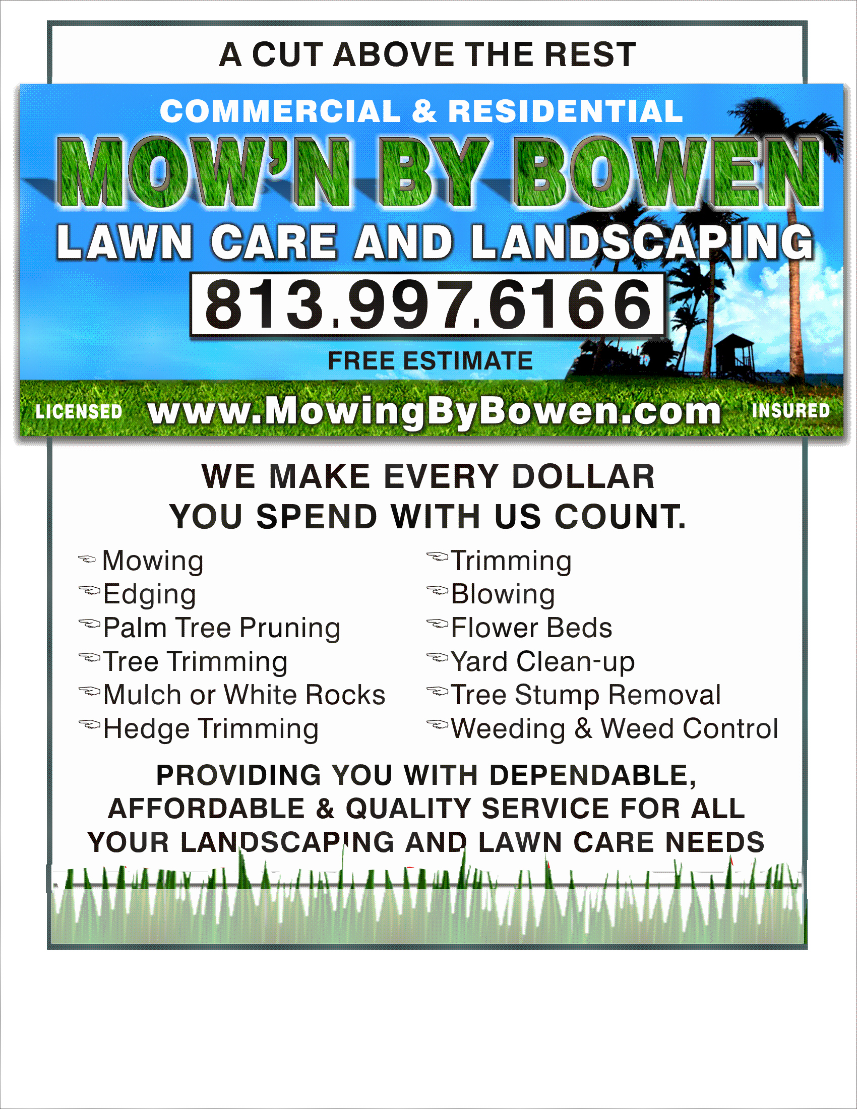 Examples Lawn Mowing Flyers
