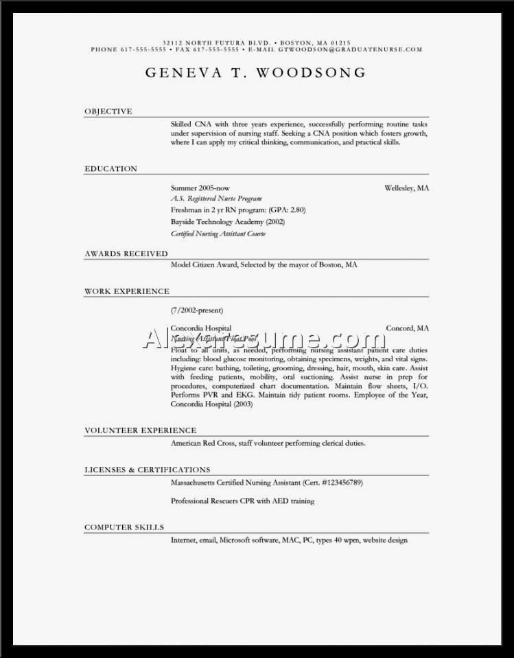 Examples Objective for Nursing Resume