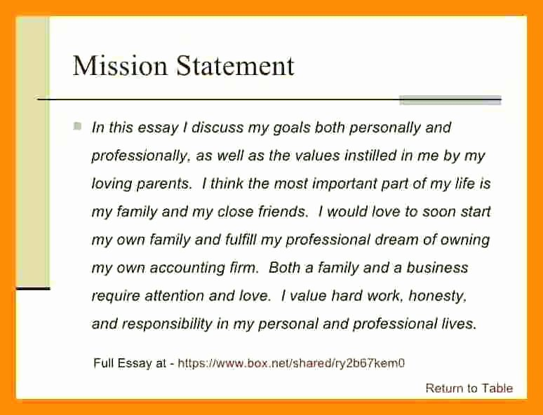Examples Personal Mission Writing A Statement Template