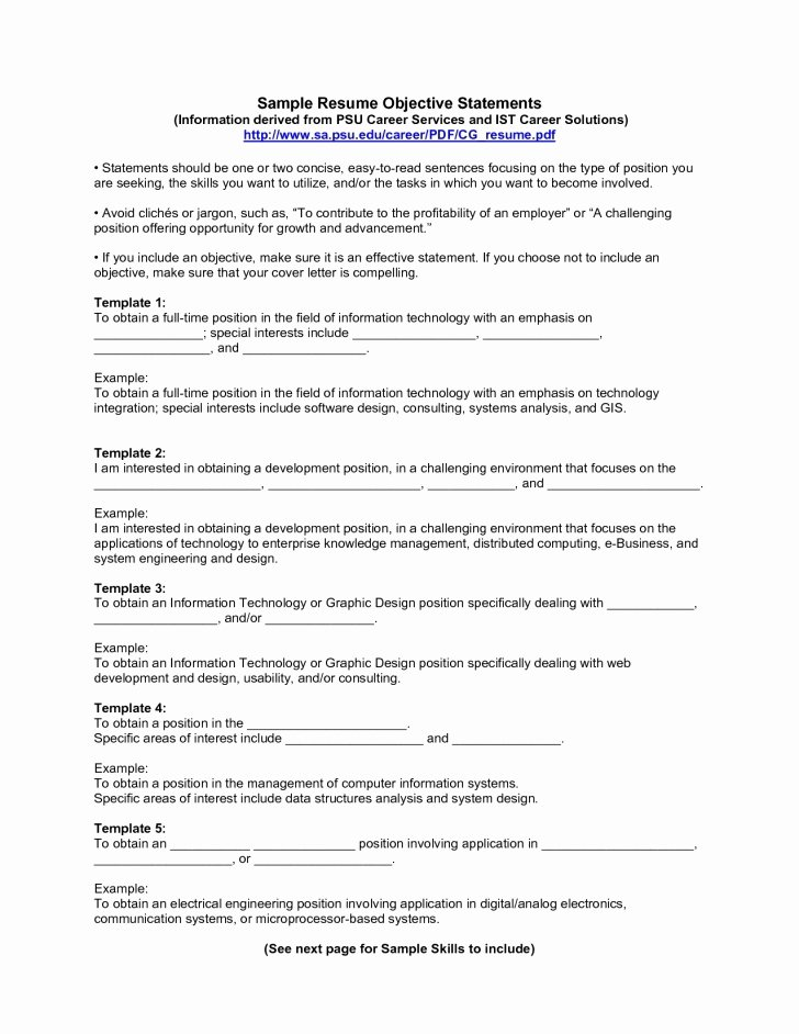 Examples Profile Statements for Resumes Best Resume