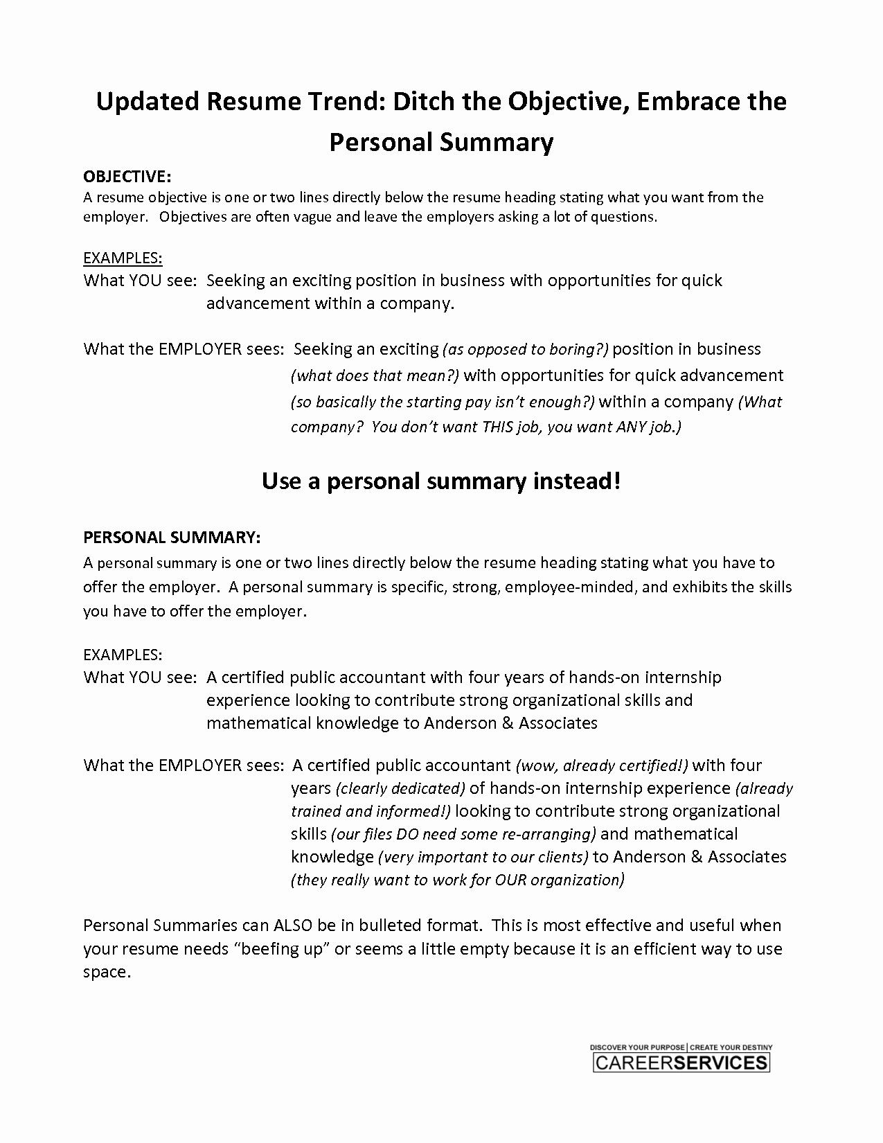 Examples Short Resumes Ideasplataforma