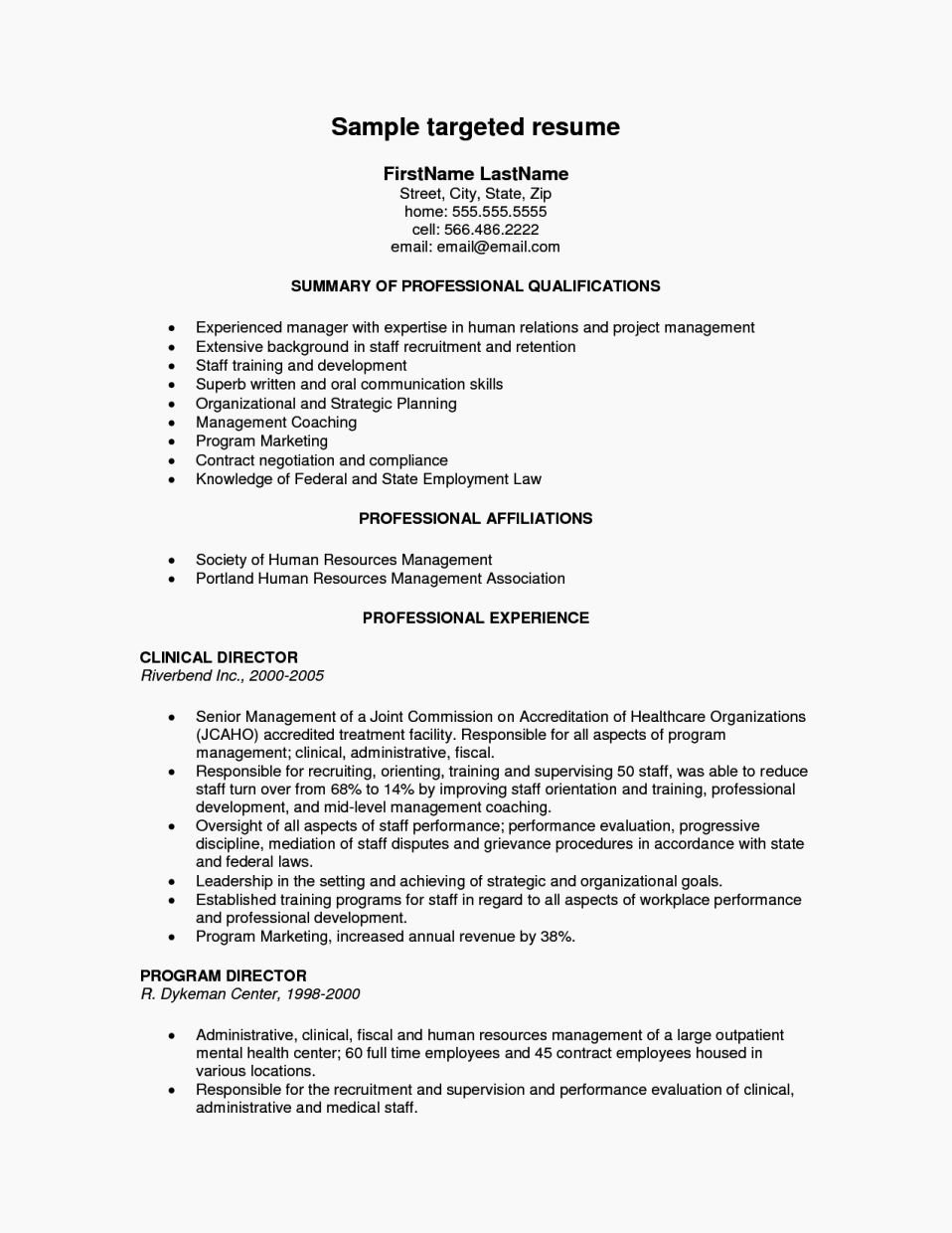 Examples Tar Ed Resumes Resume Template