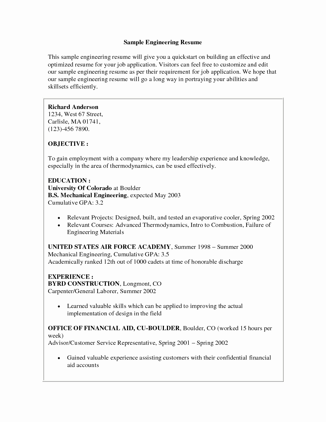 Examples Teen Resumes Resume Templates