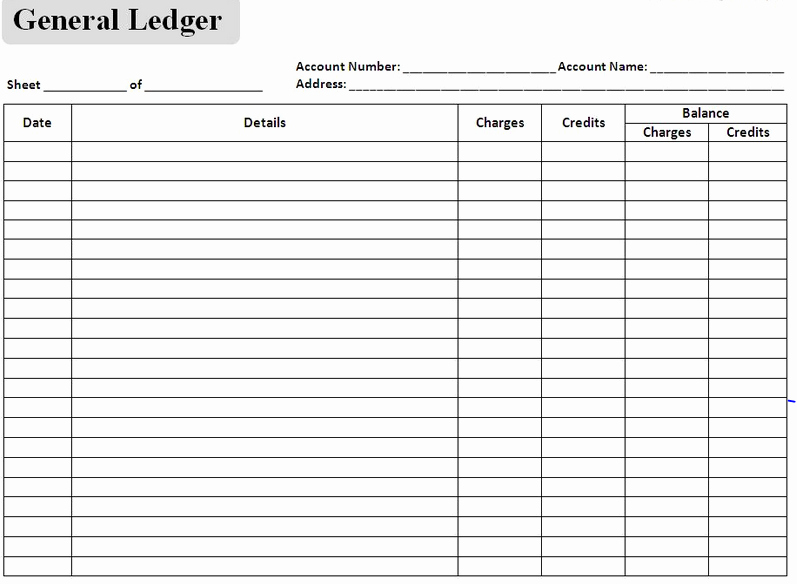 excel accounting templates general ledger