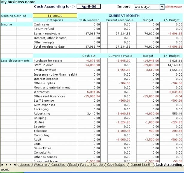 Excel Bookkeeping Template Beepmunk