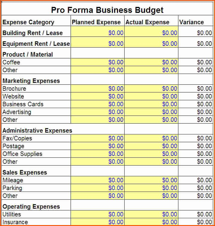 Excel Business Bud Template Uk Excel Bud Template