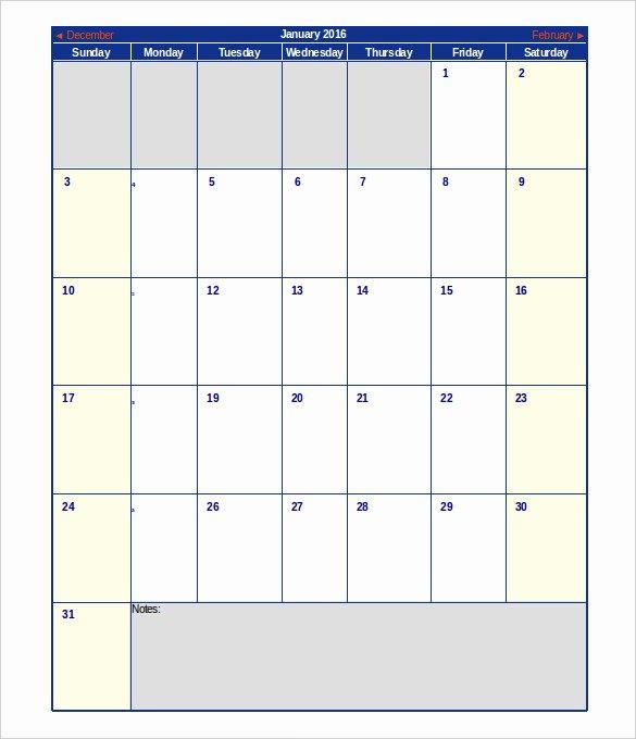 Excel Calendar Schedule Template – 15 Free Word Excel