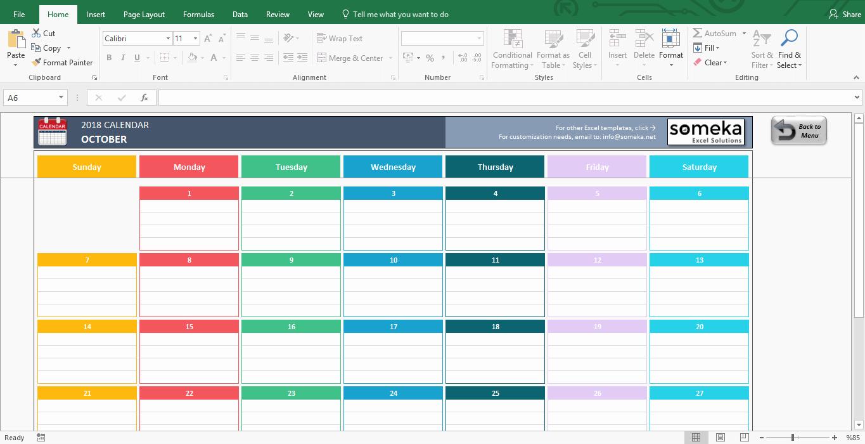 Excel Calendar Templates Download Free Printable Excel