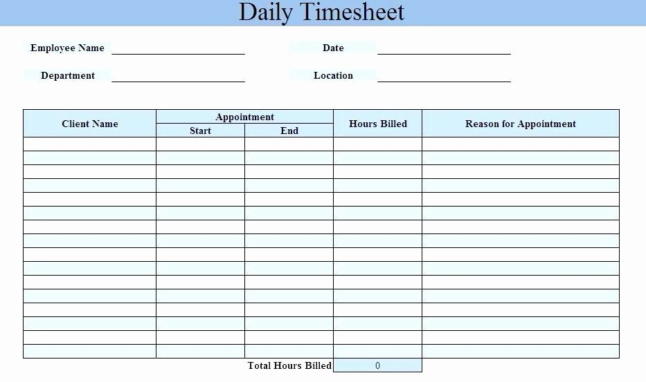 Excel Daily Timesheet Template – Jewishhistoryfo