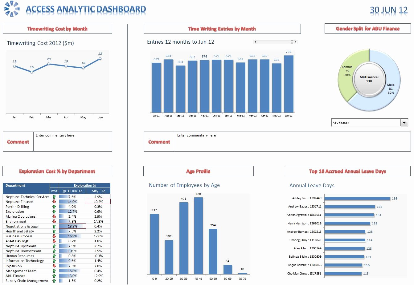 Excel Dashboards and Reports Access Analytic