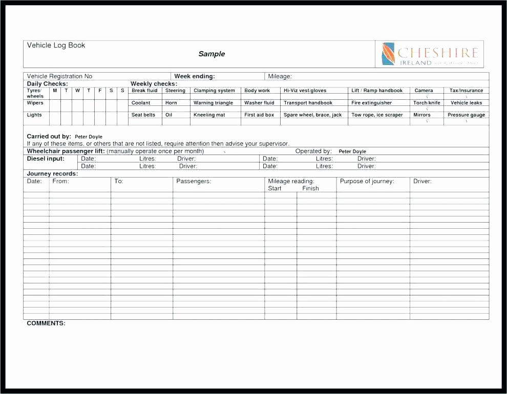 Excel Expense Report Template Business Monthly Mileage