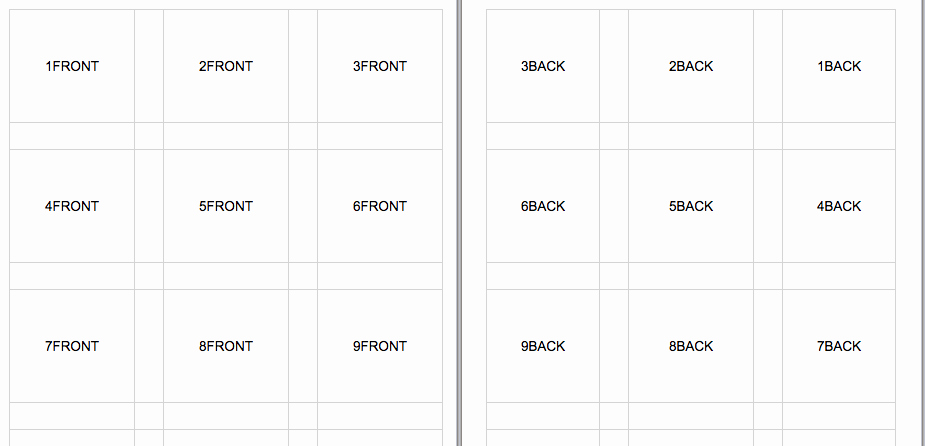 Excel Flashcards Template
