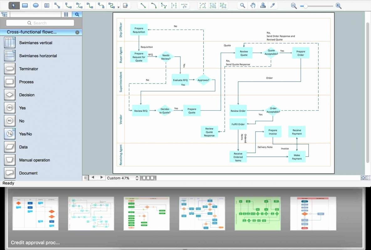 Excel Flowchart Template