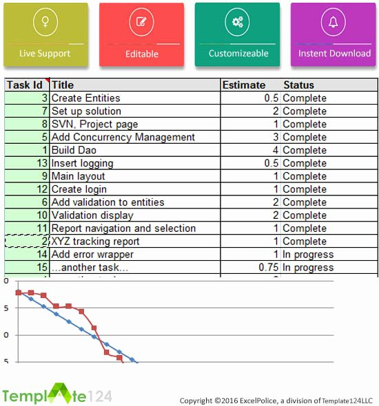 Excel issue Tracking In Project Management Template