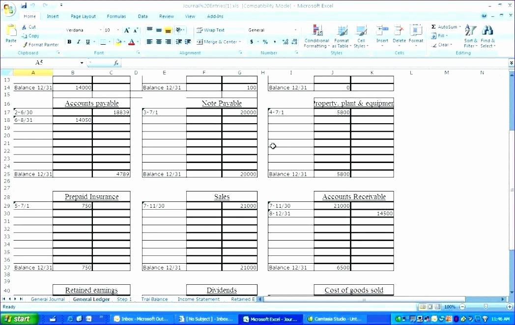 Excel Journal Entry Template Accounts Payable Template