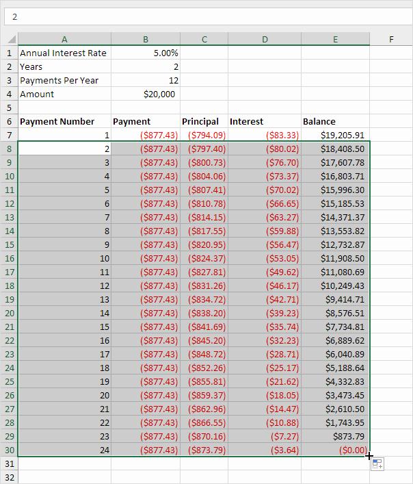 Excel Loan Amortization Template Download Excel Loan