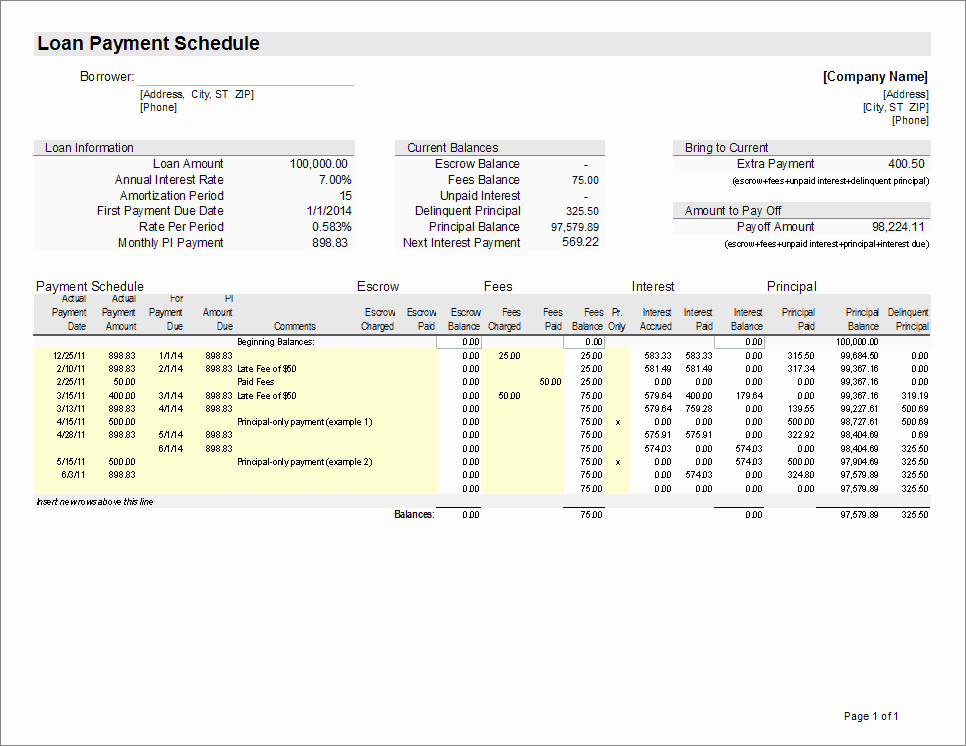 Excel Loan Amortization Template Download Excel Loan