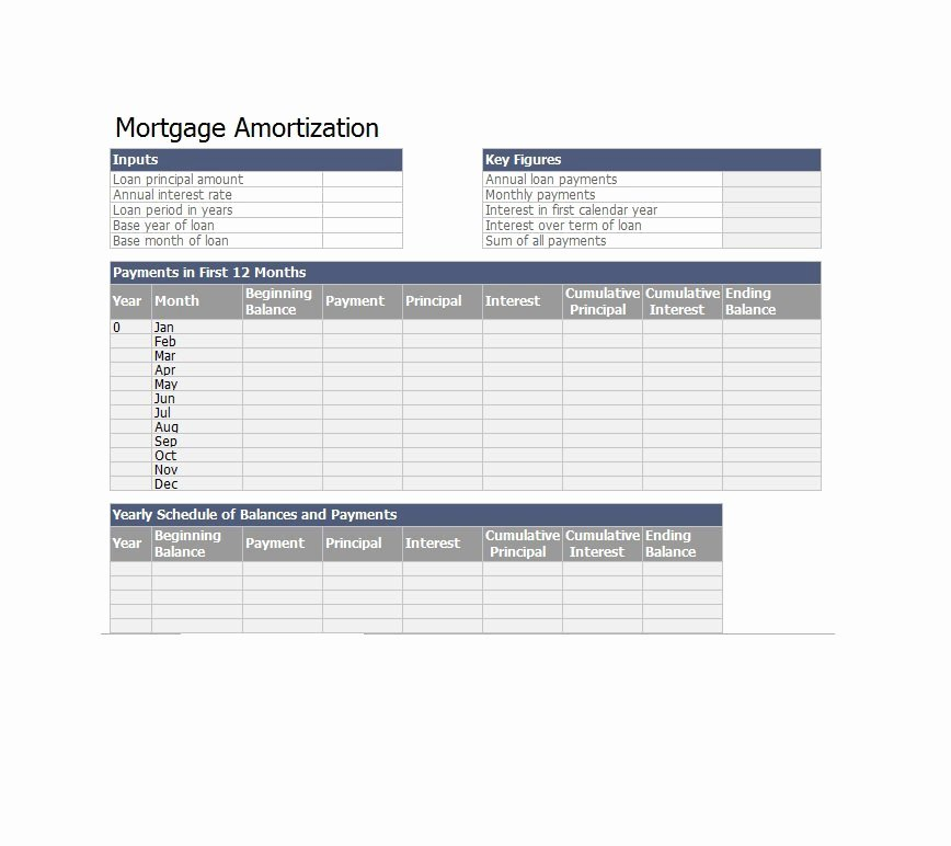 Excel Loan Amortization Template Download Ms Excel
