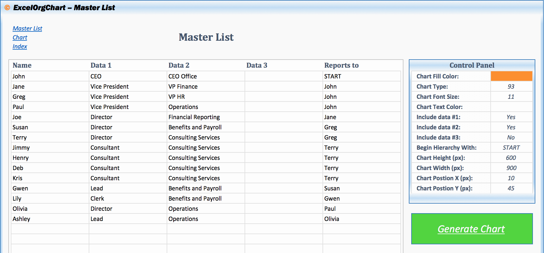 Excel org Chart Vba Excel organisation Charts Ayucar
