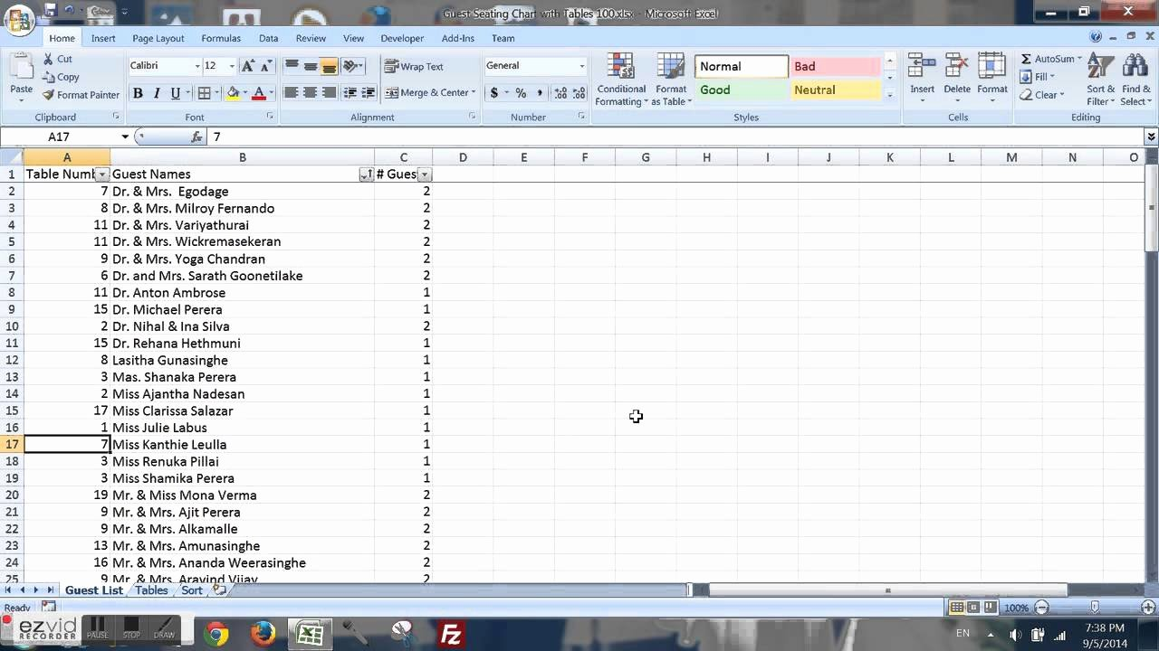Excel Seating Chart Microsoft Excel 02 Create A Seating
